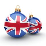 3D rendering Christmas ball with the flag of Great Britain. 3D rendering Christmas ball decorated with the flag of Great Britain Stock Images