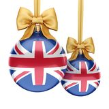 3D rendering Christmas ball with the flag of Great Britain. 3D rendering Christmas ball decorated with the flag of Great Britain Royalty Free Stock Photography