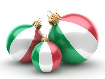 3D rendering Christmas ball with the flag of Italy Royalty Free Stock Photos