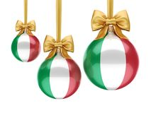3D rendering Christmas ball with the flag of Italy. 3D rendering Christmas ball decorated with the flag of Italy Stock Images