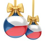3D rendering Christmas ball with the flag of Czech Republic Stock Photography