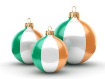 3D rendering Christmas ball with the flag of Ireland Royalty Free Stock Photography