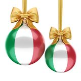 3D rendering Christmas ball with the flag of Italy Royalty Free Stock Photography