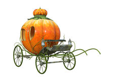 3D Rendering Cinderella Carriage on White. 3D rendering of a Cinderella pumpkin carriage isolated on white background Royalty Free Stock Image