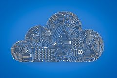 Cloud computing technology stock illustration