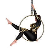 3D Rendering Circus Performer on White Stock Photo