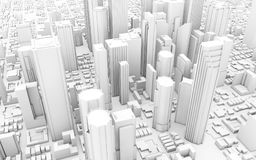 City downtown. 3d rendering of a city downtown royalty free illustration