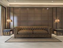 3d rendering classic sofa with luxury decor and nice furniture Stock Image