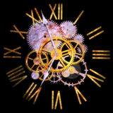 3D Rendering A Clock, Concept of Time and Universe Royalty Free Stock Photo