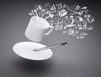 3d rendering of coffee cup Stock Photos