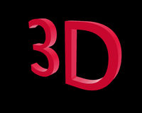 3d rendering color 3D letters on black background. 3d illustration. Royalty Free Stock Image