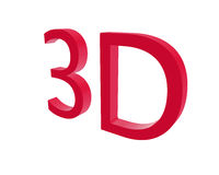 3d rendering color 3D letters on white background. 3d illustration. Stock Image