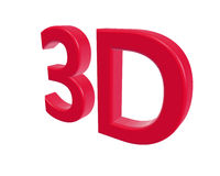 3d rendering color 3D letters on white background. 3d illustration. Royalty Free Stock Photo