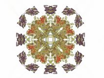 3D rendering with colorful abstract fractal pattern.  royalty free illustration