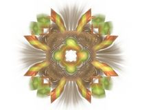 3D rendering with colorful abstract fractal pattern.  vector illustration