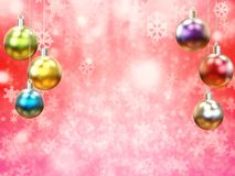 Christmas ball. 3d rendering colorful christmas ball for decoration Stock Image