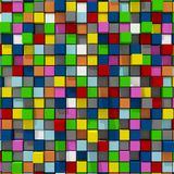 3d rendering of colorful cubic random level background. 3d rendering of acstract colorful cubic random level background Stock Photos