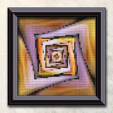 3D rendering combo artwork in elegant frame Royalty Free Stock Image