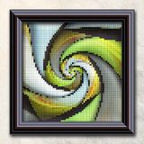 3D rendering combo artwork in elegant frame Royalty Free Stock Photos