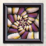 3D rendering combo artwork in elegant frame Stock Images