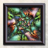 3D rendering combo artwork in elegant frame Stock Image