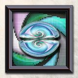 3D rendering combo artwork in elegant frame Royalty Free Stock Photo