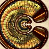3D rendering combo creative graphics artwork stock image