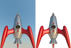 3D rendering of a comic style rocket Royalty Free Stock Image