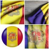 Andorra flag Royalty Free Stock Photography