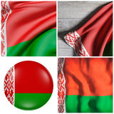 Belarus flag waving. 3d rendering of a composition of four Belarus flags Stock Image