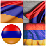 Armenia flag waving Royalty Free Stock Photos