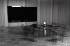 3D rendering. Conference room. Stock Images