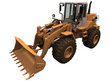 3d Rendering of a Construction Loader Royalty Free Stock Image