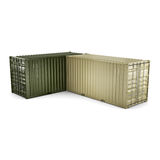 3D rendering container Stock Image