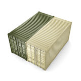 3D rendering container Royalty Free Stock Image