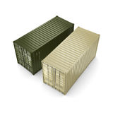 3D rendering container Stock Photo