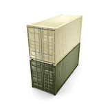 3D rendering container Royalty Free Stock Photography