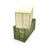 3D rendering container Stock Photography