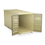 3D rendering container Stock Images