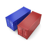 3D rendering containers Stock Images