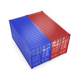 3D rendering containers Royalty Free Stock Photos
