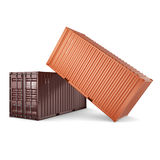 3D rendering containers Royalty Free Stock Images