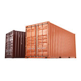 3D rendering containers Stock Image
