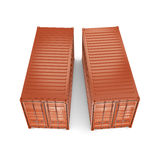 3D rendering containers Stock Photo