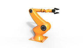 3d rendering of cool industrial robotic arm on  a white  Royalty Free Stock Images