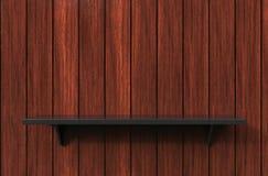3d rendering of cool modern pendant black color shelf on a teak. Background in a room Stock Images
