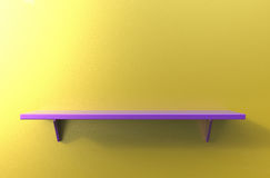 3d rendering of cool modern pendant purple color shelf on a yell Stock Photography