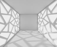 3D Rendering corridor with abstract facades, interior illustrati Stock Images