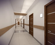 3D rendering corridor of ofice building Royalty Free Stock Photography