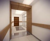 3D rendering corridor of ofice building Stock Photo